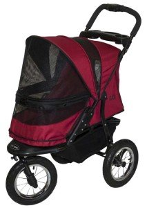 Pet Gear Jogger No-Zip Pet Stroller Rugged Red