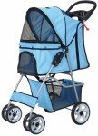 confidence-deluxe-folding-four-wheel-pet-stroller-for-cats-and-dogs