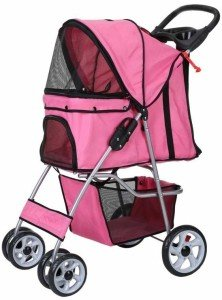 confidence-deluxe-folding-four-wheel-pet-stroller-pink