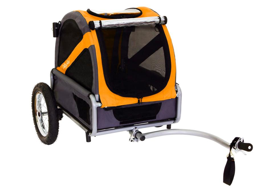 doggyride mini dog trailer orange