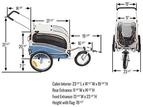 rage-powersports-pet-bike-trailer-stroller-dimensions