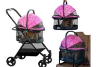 pet gear dog stroller pink 1