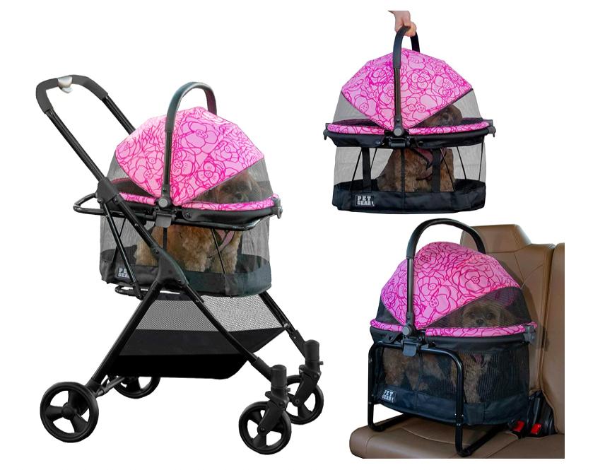 pet gear dog stroller pink