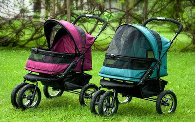 Pet Gear No Zip Double Pet Stroller