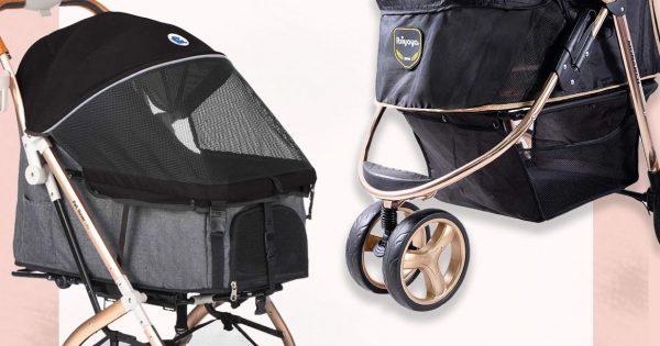 Designer pet strollers